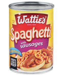 Wattie's Spaghetti with Sausages