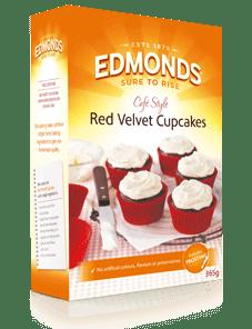 Edmonds Cafe Style Red Velvet Cupcakes