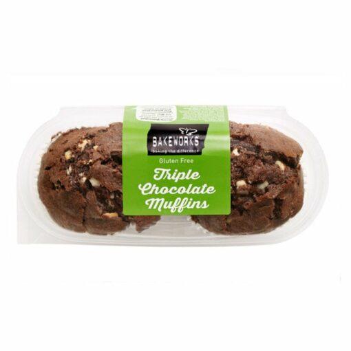 Triple Chocolate Muffins - Bakeworks Gluten Free