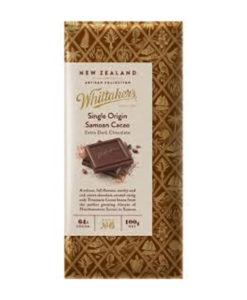 Whittakers Artisan Collection Chocolate Block Single Origin Samoan Cacao Extra Dark Chocolate