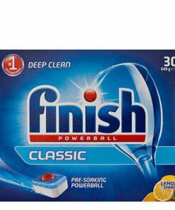 Finish Classic Dishwasher Tablets Lemon 30pk