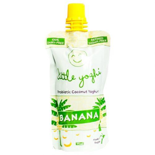 Banana Flavour Little Yoghis - Raglan Coconut Yoghurt - 75ml