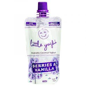 Berries & Vanilla Flavour Little Yoghis - Raglan Coconut Yoghurt - 75ml