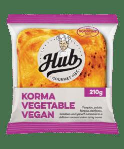 Goodtime HUB Gourmet Korma Vegetable Vegan Pie 210g