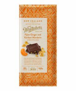 Whittakers Artisan Collection Chocolate Block Fijian Ginger & Mandarin