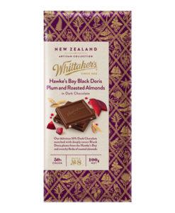 Whittakers Artisan Collection Chocolate Block Black Doris Plum & Almond