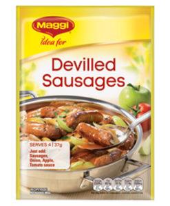 Devilled Sausages Maggi Recipe Base