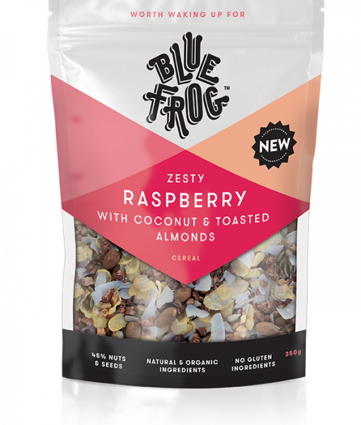 Blue Frog - Zesty Raspberry with Coconut & Toasted Almonds