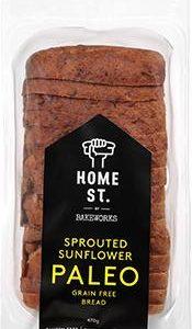 Home St Sunflower Paleo Bread – Bakeworks Gluten Free