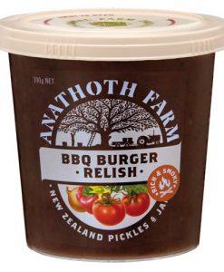 Anathoth Farm Relish BBQ Burger
