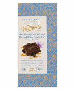 Whittakers Chocolate Block Marlborough Salt & Caramel with Saffron