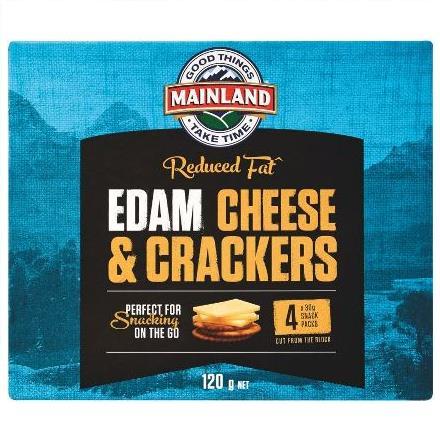 Mainland Edam Cheese & Crackers 4 x 30g Pack