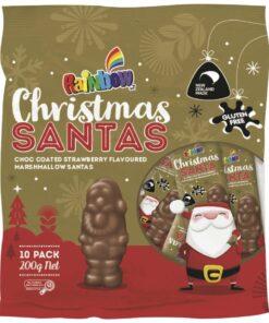 Rainbow Chocolates Marshmallow Santa