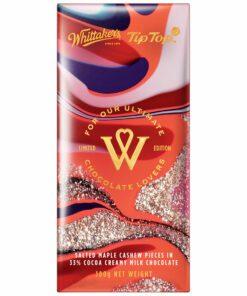 Whittakers Tip Top Chocolate Block Milk Choc Maple & Cashew
