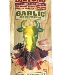 Canterbury Biltong (Jerky) - Garlic & Cracked Pepper Flavour - 100g