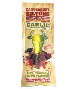 Canterbury Biltong (Jerky) Garlic & Cracked Pepper Flavour 100g