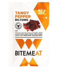 Canterbury Biltong (Jerky) Tangy Pepper Bite Meat 50g