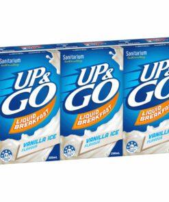 Sanitarium Up & Go Breakfast Drink Vanilla Ice 3 x 250ml Pack
