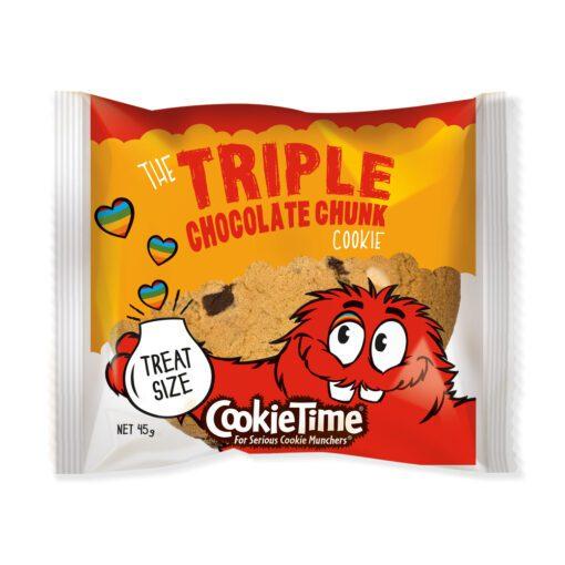 Cookie Time Triple Chocolate Chunk Treat Cookie 45g
