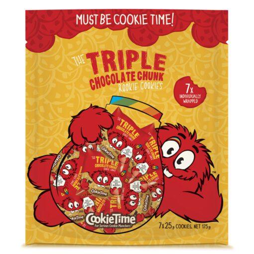 Cookie Time Rookie Cookies Triple Chocolate 7pk 175g
