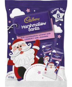 Cadbury Chocolates Marshmallow Santas 175g
