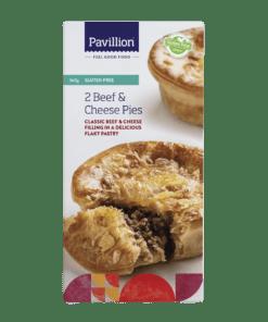 Pavillion Gluten Free Beef & Cheese Pies 2 x 180g