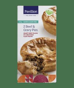 Pavillion Gluten Free Beef & Gravy Pies 2x180g