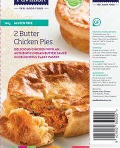 Pavillion Gluten Free Butter Chicken Pies 2x180g