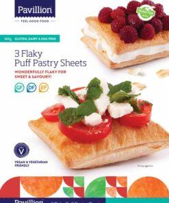 Pavillion Foods Gluten Free Flaky Pastry 3 Sheet Pack 600g