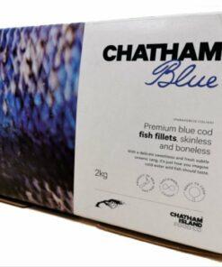 Premium Blue Cod fish Fillets, Skinless & Boneless 2kg