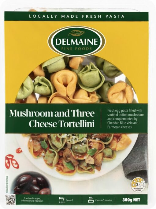 Delmaine Mushroom & 3 Cheese Tortellini