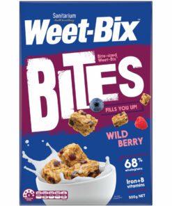 Sanitarium Weetbix Bites Wheat Biscuits Wildberry