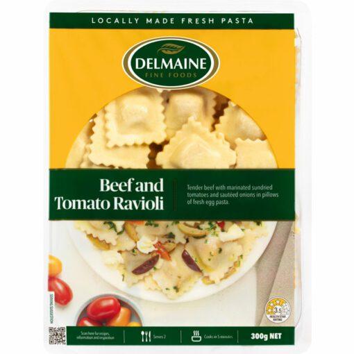 Delmaine Chilled Filled Pasta Beef & Tomato Ravioli