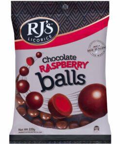 RJ's Licorice Candy Raspberry Coated Balls 200g