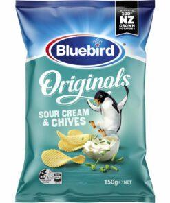 Bluebird Originals Potato Chips Sour Cream & Chives