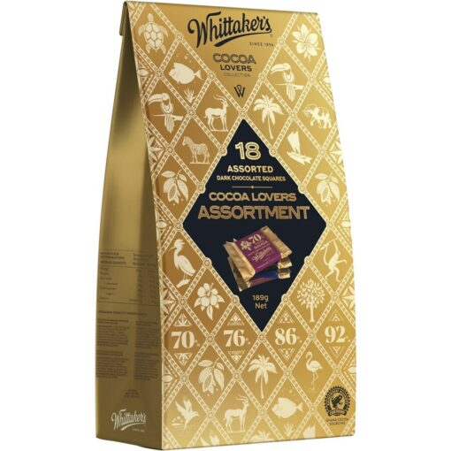 Whittakers Artisan Collection Chocolate Cocoa Lovers Assortment