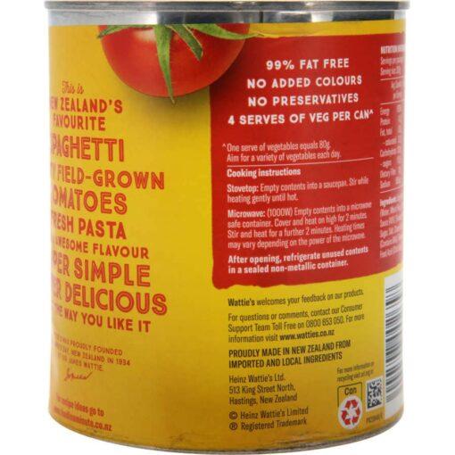 Watties Spaghetti In Tomato Sauce 820g