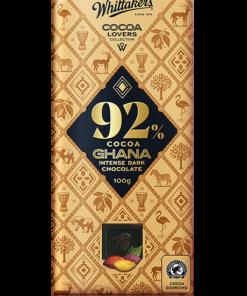 Whittakers Cocoa Lovers Chocolate Block 92% Ghana Intense Dark Choc