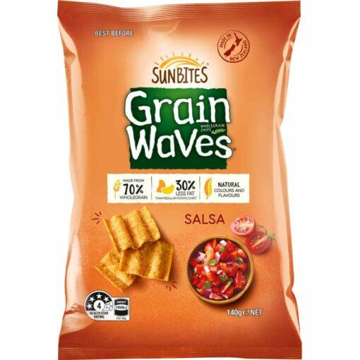 Sunbites Grainwaves Wholegrain Chips Salsa