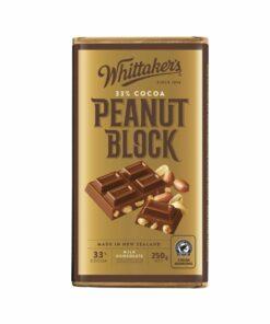 Whittakers chocolate block original peanut 33% cocoa 250g