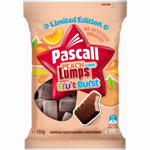 Pascall Sweets Peach Lumps 120g